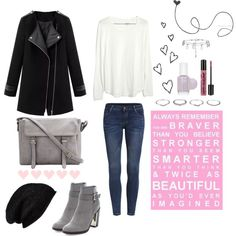 Cute & Classy Winter Look + Video! by ladylikecharm on Polyvore featuring moda, Madewell, New Look, Halogen, NYX and Essie