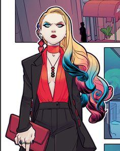 Harley Quinn Comic, Joker And Harley, Dope Cartoons, Dope Cartoon Art, Gotham Characters, Female Characters, Daddys Little Monster, Gotham Girls, Teen