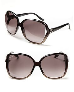 52a4cd9571 Gucci Oversize Square Frame Sunglasses with Open Sides Jewelry    Accessories - Bloomingdale s