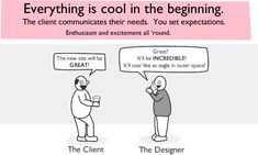 How a Web Design Goes Straight to Hell - The Oatmeal // That's about right.
