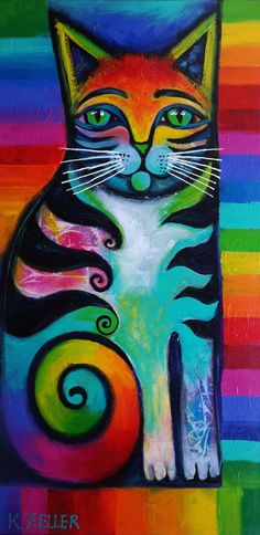 Rainbow cat 2 ..... Karin Zeller