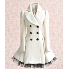 White Winter Pea Coat Dress