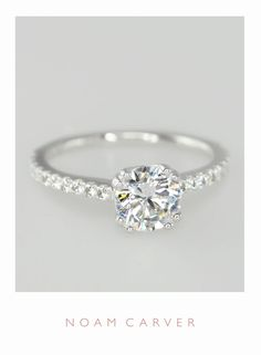 A classic solitaire for a classic bride. Designer engagement rings by Noam Carver - model B001-01  http://noamcarver.com/details.asp?SKU=B001-01WM-100A