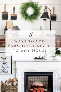 Ways to Add Farmhouse Style to Any House by sheholdsdearly. Farmhouse Interior, Modern Farmhouse Decor, Farmhouse Homes, Farmhouse Design, Urban Farmhouse, Cottage Farmhouse, French Farmhouse, Farmhouse Furniture, Coastal Cottage