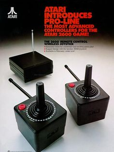 #Atari2600 Wireless Controllers (1982) Atari Video Games, Computer Video Games, Video Game Posters, Vintage Video Games, Vintage Games, Retro Games, Donkey Kong, Space Invaders, Arcade Games
