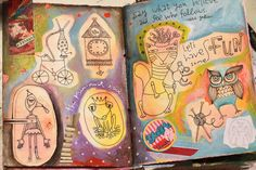 Inspired! Art journaling by Michelle Allen! #artjournaling