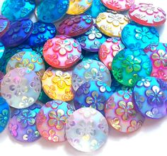 *12 pieces*  12mm mixed colors AB round flower decoden flatback cabochon embellishment.  Flatback beads are a great way to embellish and dress up just about anything... no matter what they are used for...    Great for scrapbooking, jewelry embellishments, decoden your phone, gaming system, accenting home decor, or just about anything else you want to bling out, give color and flare too... so many options to for DIY personalizing crafty projects.  All around great way to jazz up anything you…