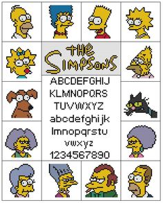 The Simpsons Sampler Cross Stitch Pattern | eBay