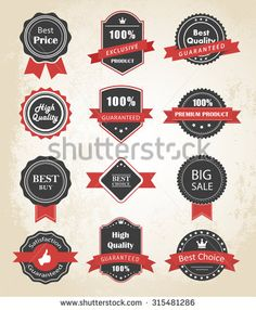 Vector set of Labels, Banners, Ribbons and Stickers/Labels and Ribbons Vector Elements/Labels and Ribbons Vector Design Elements