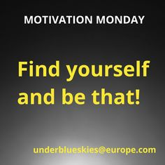 Company Logo, Monday Motivation, Finding Yourself, Logos, Tips, Blue, Soul Searching, A Logo, Logo