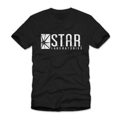 Star Laboratories Labs T-Shirt This shirt has been replicated to look just like the one worn by Barry Allen in the Flash TV Show. This logo is printed in white on a high quality 100% preshrunk cotton
