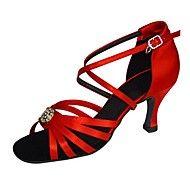 Women's+Ballroom+Latin+Dance+Shoes+Satin+Jazz+/+Swing+Shoes+/+Salsa+Sandals+/+Heels+HeelPractice+/+Beginner+Customizable+–+USD+$+52.49