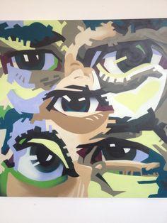 Artist: Ruskig Title: VillSeDig #2 Size: 100x100x4 cm Material: Spray paint on cotton canvas