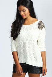 Millie Sequin Shoulder Jumper