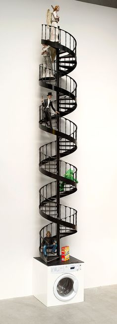 Spiral Staircase (1 of 300 sculptures forming Large Field Array) - Keith Tyson