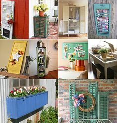 50+ Creative Ideas to Recycle Old Shutters for Home Decor - http://www.amazinginteriordesign.com/50-ideas-recycle-old-shutters-home-decor/