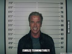 While watching Terminator Genisys... I loved this sequence. ..and I agree with Kyle, That smile is disturbing.