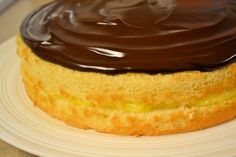 "Boston ""Cream"" Pie..so nervous to attempt one of these seems like so much work.. rainy day project."