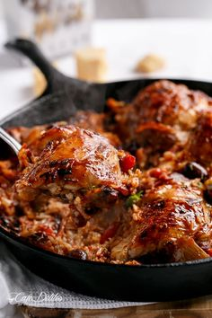 One Pot Italian Sundried Tomato Chicken and Rice by cafedelites - I'd use quinoa Sundried Tomato Chicken, Cooking Recipes, Healthy Recipes, Skillet Recipes, Skillet Meals, Chicken Recipes Video, Cast Iron Recipes, Italian Chicken, Italian Rice