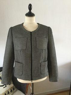 Min egen version af Chanel jakke med 2-vejs lynlås Stoffet er fra #FabricMinds