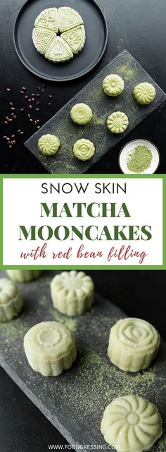 Happy Mid Autumn Festival, everyone! Here's how to make Matcha Snow Skin Mooncakes with Red Bean Filling. Snow Skin mooncakes are no-bake versions Red Bean Dessert, 8th Month, How To Make Matcha, Matcha Cookies, Matcha Dessert, Cake Recipes, Dessert Recipes, Delicious Desserts, Yummy Food