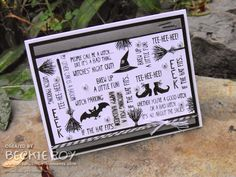 Artistic Embellishments: Happy World Card Making Day!!! Tee-hee-hee Graffiti Stamped
