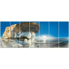 DesignArt 'Rock on Olkhon Island in Baikal Lake' Photographic Print Multi-Piece Image on Canvas