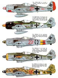 1939-49 Focke-Wulf FW 190. Luftwaffe, HAF, TAF - Fighter. Engine: Junkers Jumo…