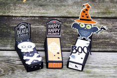 Schokoladensärge zu Halloween basteln mit Video-Anleitung Verwendete Stempelsets: Howl-o-ween Treat und Happy Hauntings von Stampin´ Up!