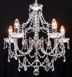 Fantastic Andrea 5 Light Crystal Chandelier (Chrome) - 825/5 - Luxury Lighting