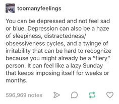So maybe my depression isn& getting better. Maybe I& just cut off my feelings. Social Anxiety, Understanding Anxiety, After Life, Mental Disorders, Psychology Facts, Feeling Sad, Mental Health Awareness, Mental Illness, Life Coaching