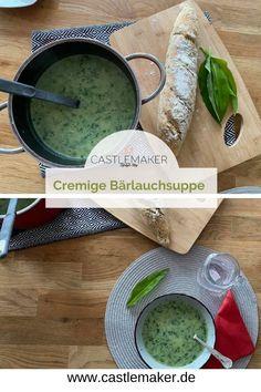 Einfaches Rezept für eine cremige Bärlauchsuppe mit Kartoffeln auf www.Castlemaker.de Gesund, kalorienarm und lecker - Bärlauch Rezept Foodblogger, Ethnic Recipes, Chef Recipes, Delicious Dishes