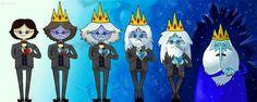 Estágios da transformação de Simon para Rei gelado