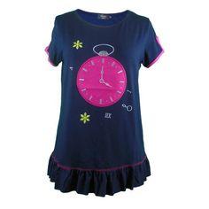 Camiseta  mujer volante reloj  [1]