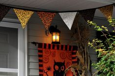Bunting for Halloween by Pleasant Home, via Flickr