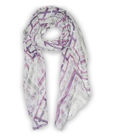 Look at this #zulilyfind! Pink & Purple Lattice Scarf #zulilyfinds
