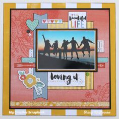 My Creative Scrapbook October Main Kit American Crafts- Amy Tangerine- Oh Happy Life Scrapbooking, Papercrafting
