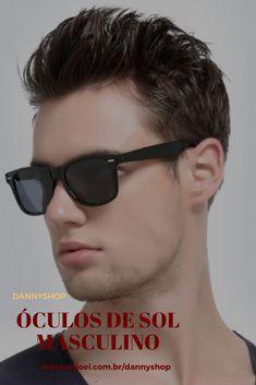 Os óculos de sol masculinos quadrados nunca saem de moda, ficam lindos em  qualquer pessoa 474fb39698