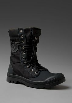 PALLADIUM Ballistic Nylon & Specialty Leather Combo Pampa Tactical in Black/Metal at Revolve Clothing - Free Shipping!: