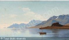 BLACHE Christian Vigilius - Kystparti fra Eskefjord, Island