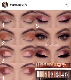 Nackte HEAT-Palette # makeup inspo beauty secrets Nackte HEAT-Palette - Make-up Geheimnisse Makeup Goals, Makeup Hacks, Makeup Inspo, Makeup Inspiration, Makeup Tips, Makeup Ideas, Makeup Tutorials, Makeup Products, Eye Makeup Steps