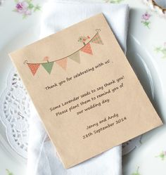 Packet Wildflower Seeds Wedding Favour - Birds on Bunting