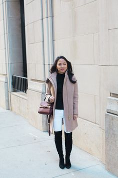 Uptown Girl // winter white jeans & classic staples