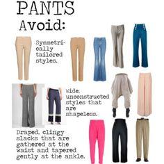 Flamboyant Gamine (FG) Pants to avoid