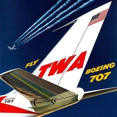 TWA 707 Tail