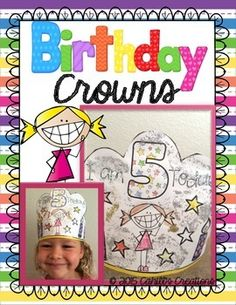 I& been meaning to make cute birthday crowns that my kids can decorate and have ownership of creating. Here are a few of my favorite kinds of crowns. Included: different crowns happy birthday girl happy birthday boy happy birthday 5 year Birthday Crown For Boy, Happy Birthday Girls, Birthday Board, Birthday Crowns, Girl Birthday, Free Birthday, Preschool Birthday, Birthday Activities, Preschool Activities