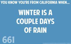California winters