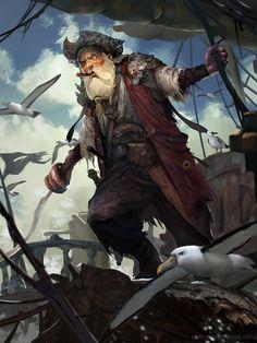 Artist: Rudy Siswanto aka crutz - Title: Captain hook norm - Card: Cursed Pirate Camilo