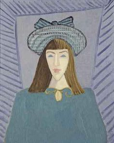 Milton Avery, March with a Green Hat, 1948, oil on canvas, 30 x 24 inches, Neuberger Museum of Art.