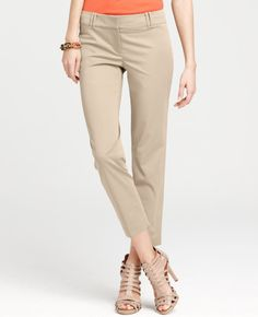 Modern Polished Cotton Cropped Pants. These could be a summer staple.